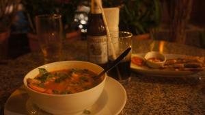 Premier diner à Bangkok (au lamphu tree Hotel)