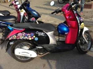 On m'a confié une moto de filles :D