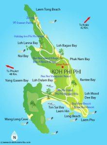 Carte Koh Phi Phi